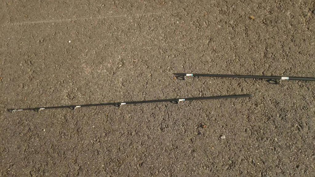 雷魚を釣ったときに折れたロッド